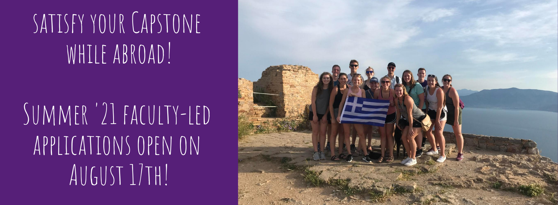 Satisfy your Capstone while abroad!