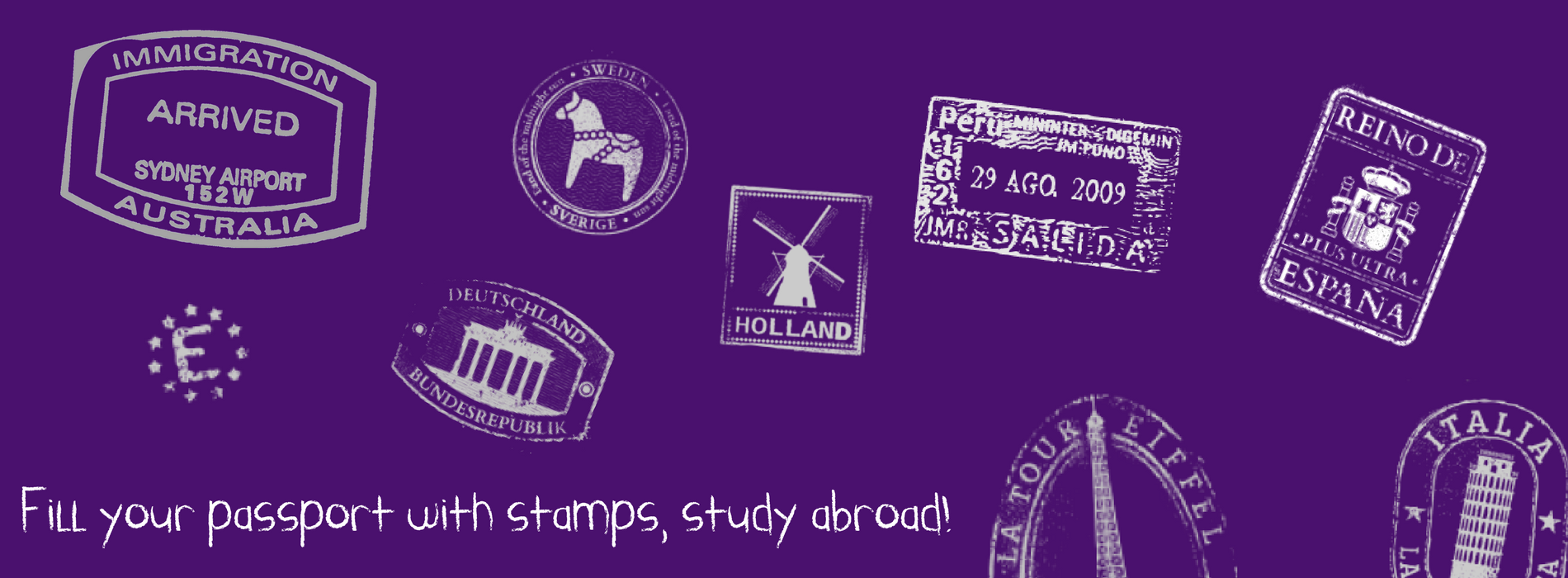 Study Abroad today and earn more stamps in your passport.