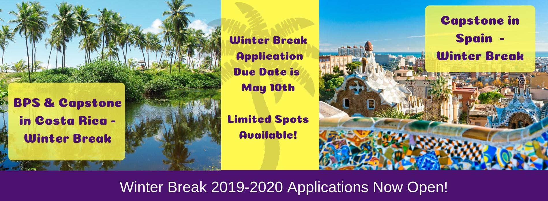 Winter Break 2019-2020 Applications Now Open!