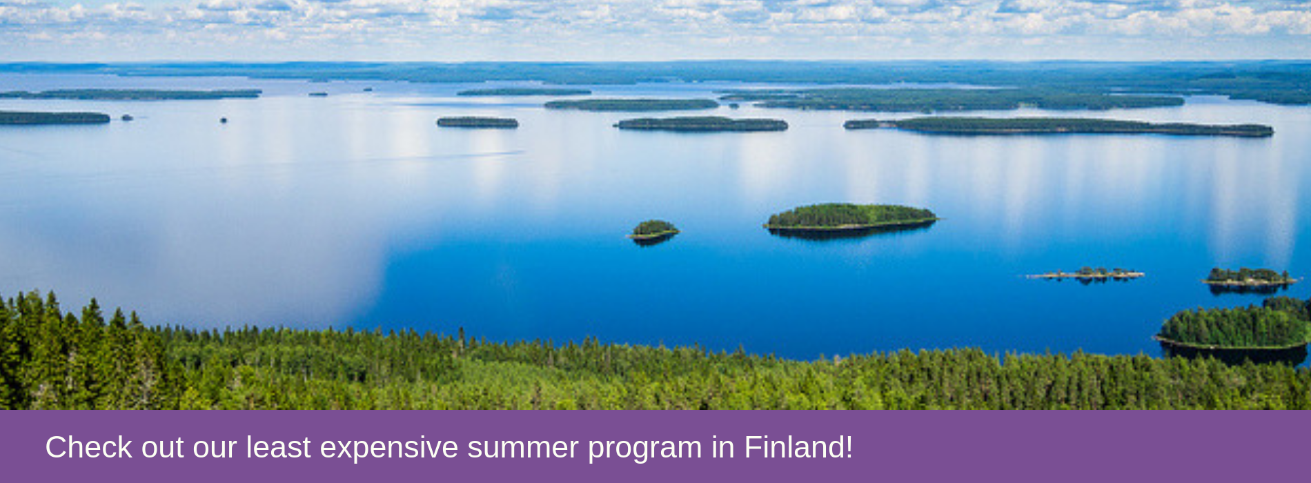 Check out our least expensive summer program in Finland!