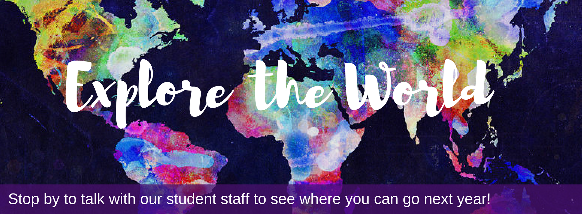 Come by our office to meet with our student staff, learn more about study abroad
