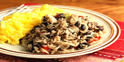 "A traditional Costa Rican dish called ""gallo pinto."""
