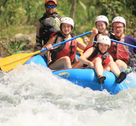 UNI students white water rafting