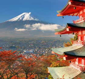View of Mt. Fuji from Kyoto