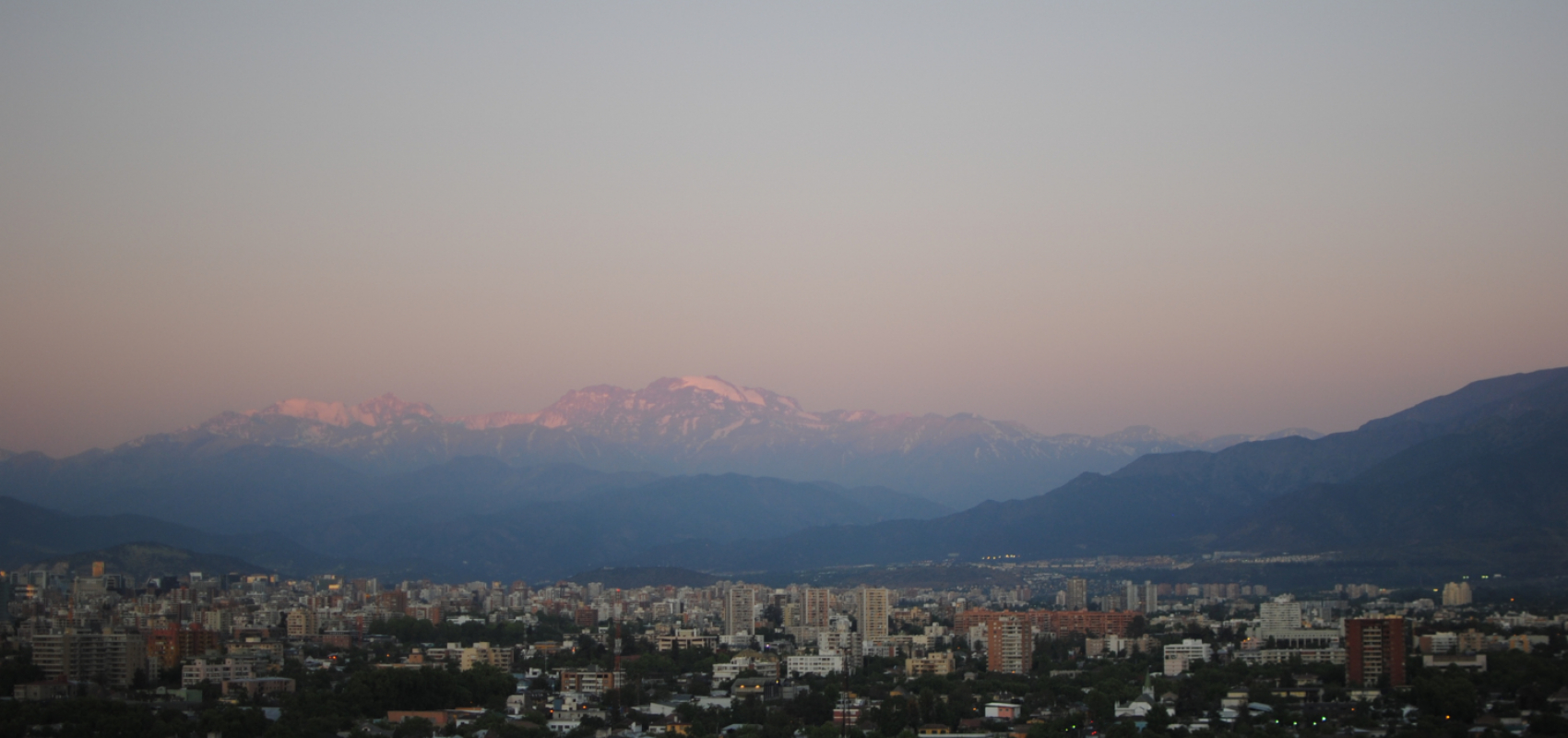 Santiago Chile panoramic