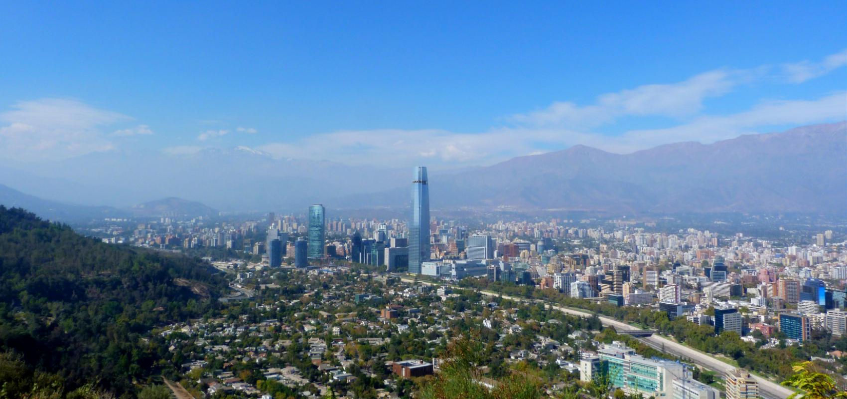Santiago Chile panoramic overview