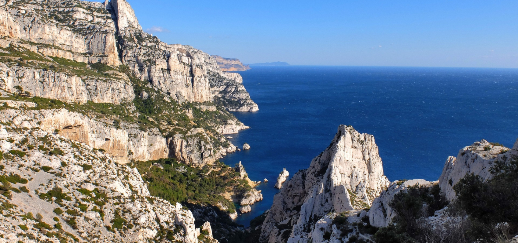 Calanques of Cassis coastal view