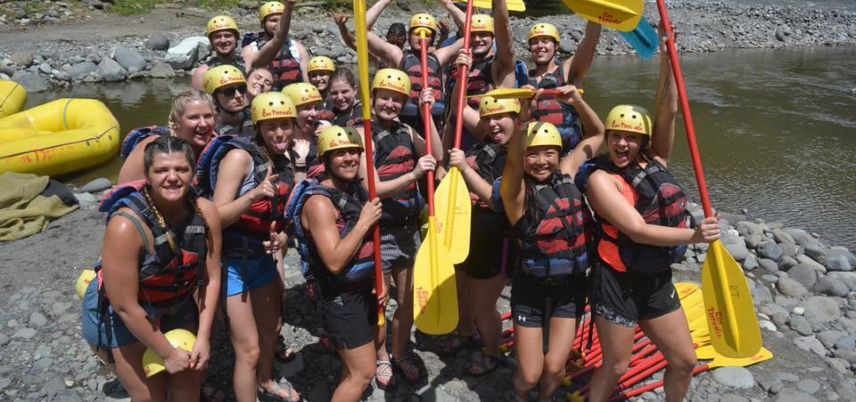 Group photo white water rafting