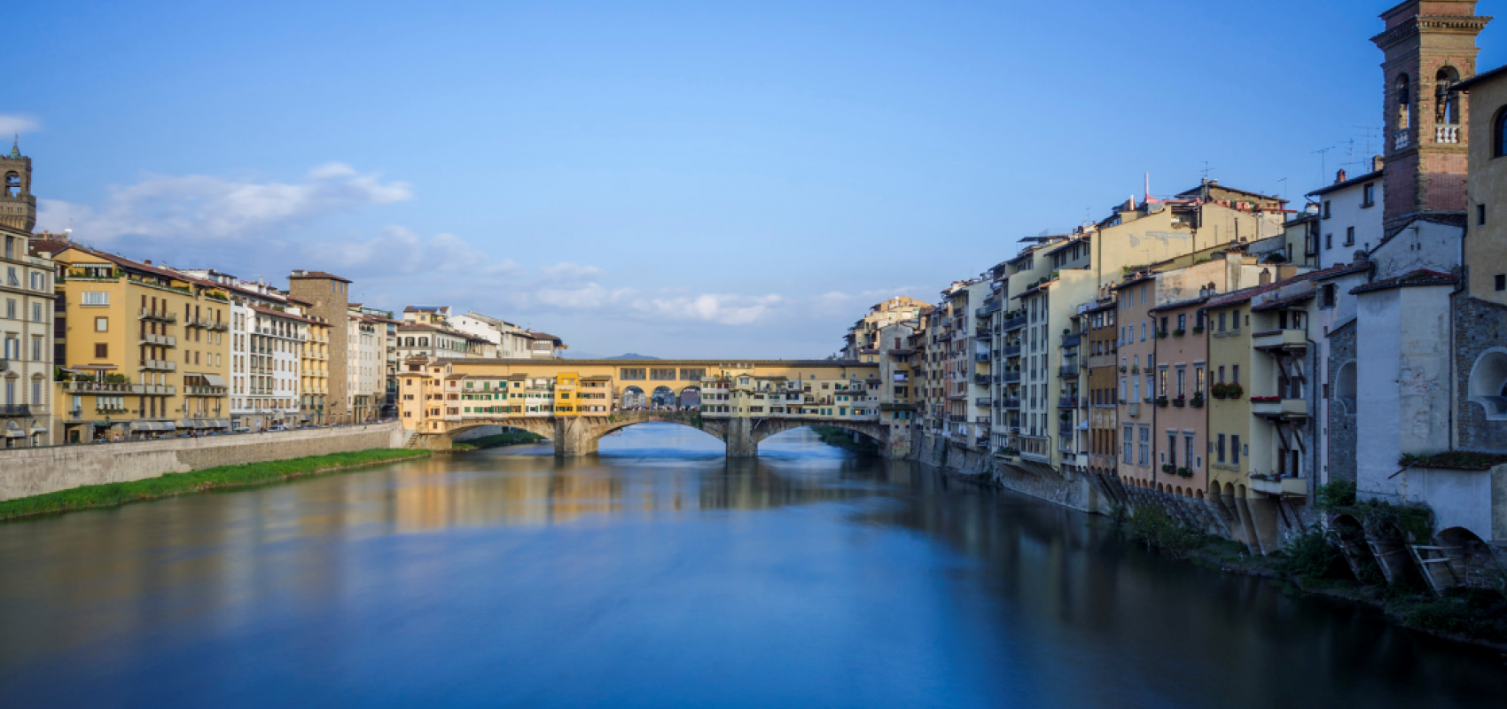 View of Florence from a bridge