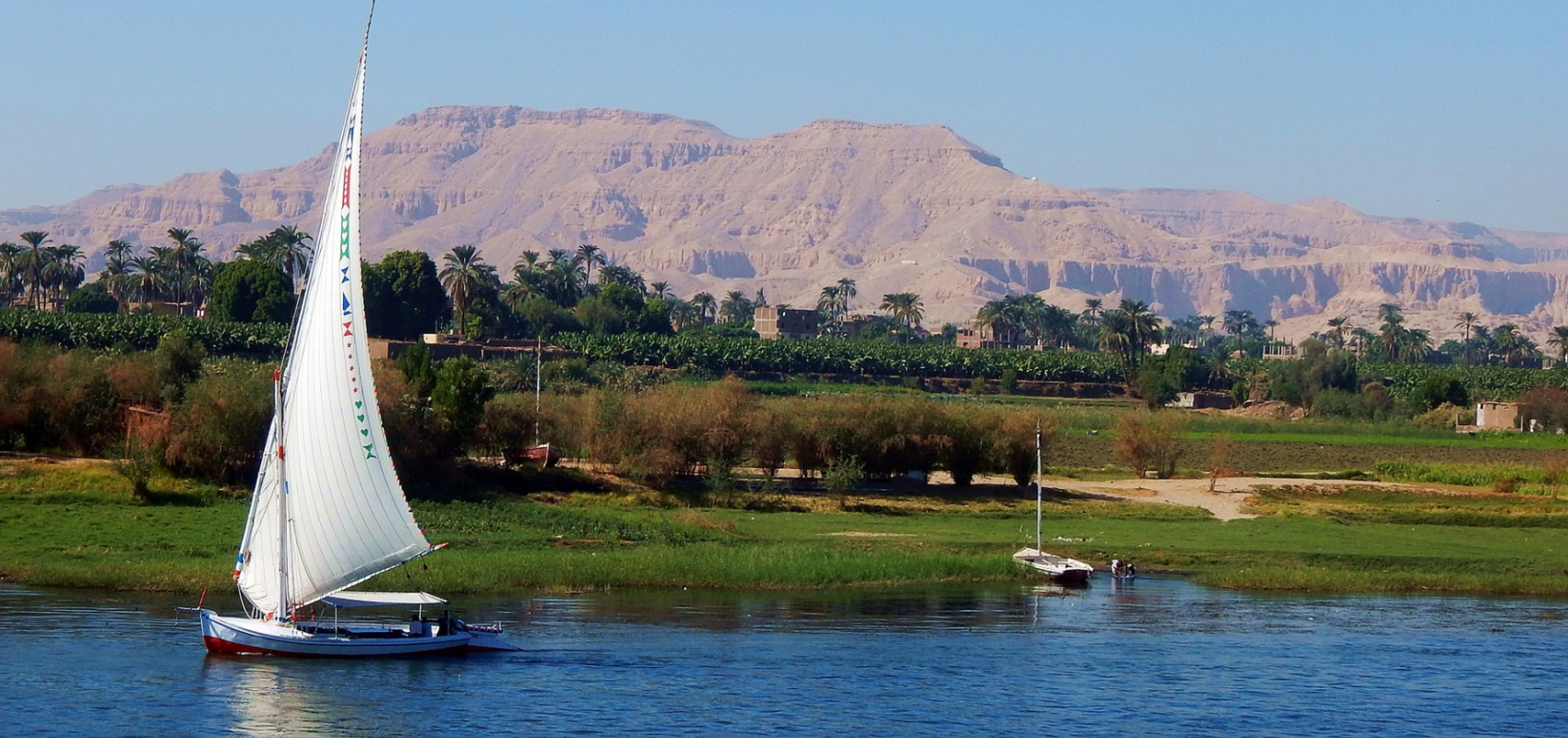Sail boat on the Nile